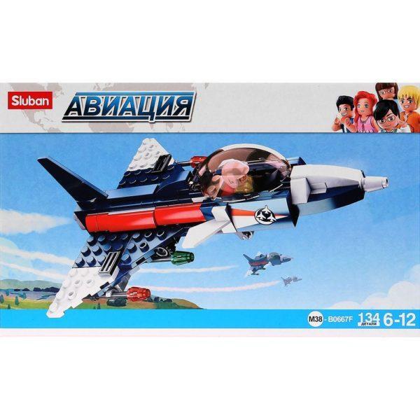 Конструктор пластиковый Sluban Самолет с фигуркой