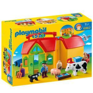 Конструктор Playmobil 1.2.3.: Ферма возьми с собой
