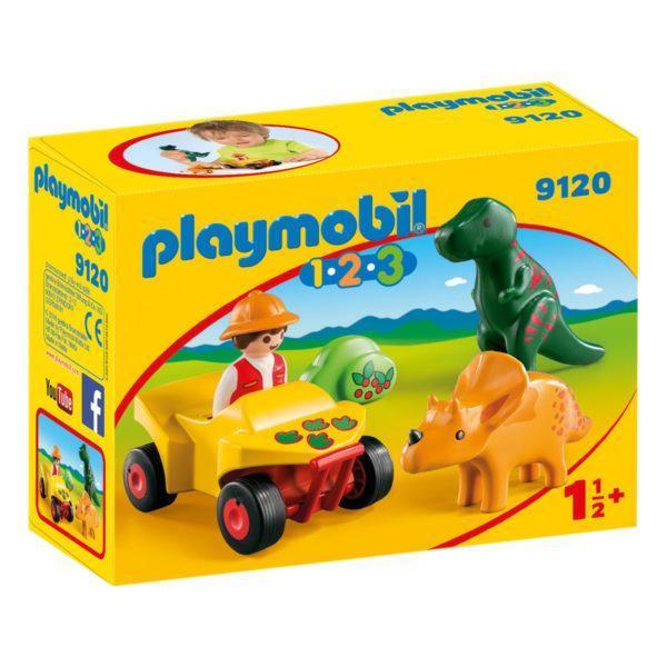 Конструктор Playmobil «1.2.3.: Исследователь с динозаврами» (арт. 9120)
