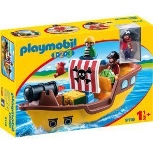 Конструктор Playmobil «1.2.3.: Пиратский корабль» (арт. 9118)