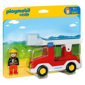 Конструктор Playmobil 1.2.3. «Пожарная машина с лестницей» (арт. 6967)