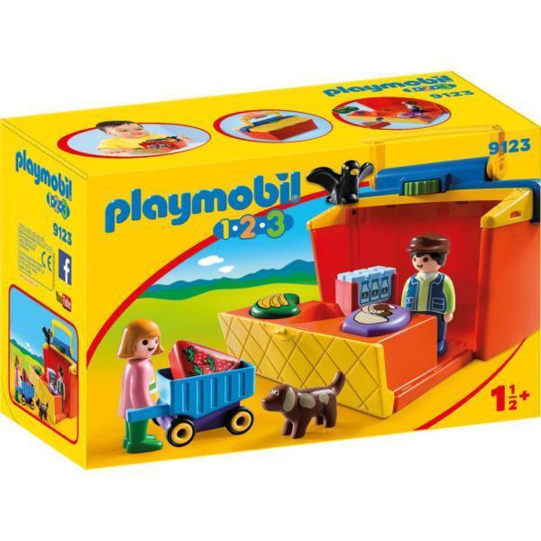 """Конструктор Playmobil 1.2.3.: """"На рынке"""" - набор из серии """"Возьми с собой"""""""