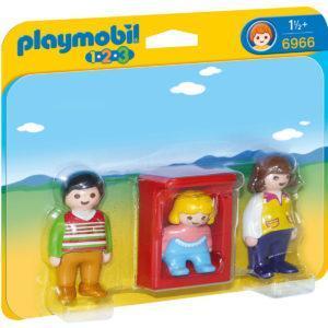 Конструктор Playmobil 1.2.3.: Родители с люлькой
