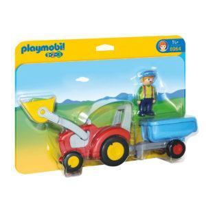 Конструктор Playmobil «1.2.3.: Трактор с прицепом» (арт. 6964)