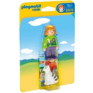 Конструктор Playmobil «1.2.3.: Женщина с кошкой» (арт. 6975)