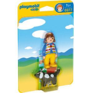 Конструктор Playmobil «1.2.3.: Женщина с собакой» (арт. 6977)