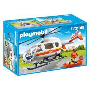 Конструктор Playmobil «Детская клиника: Вертолёт скорой помощи» (арт. 6686)