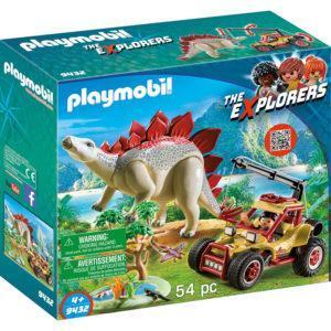 Конструктор Playmobil «Динозавры: Исследовательский транспорт со стегозавром» (арт. 9432)