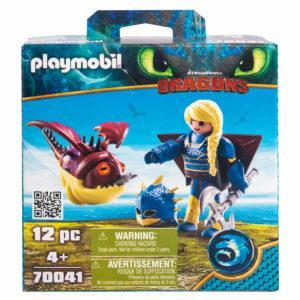Конструктор Playmobil Драконы III: Астрид в летном костюме с Объедалой