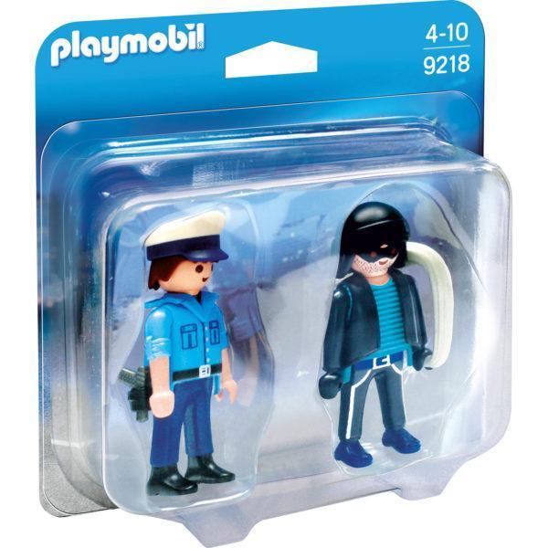 Конструктор Playmobil ДУО: Полицейский и грабитель