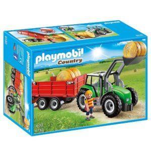 Конструктор Playmobil Ферма: Большой трактор с прицепом