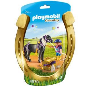 Конструктор Playmobil Ферма Пони: Конюх с Пони Звездочка