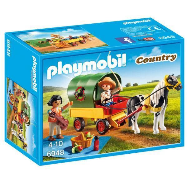 Конструктор Playmobil Ферма Пони: Пикник с коневозкой