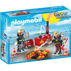 Конструктор Playmobil «Городской Аэропорт: Операция по тушению пожара с водяным насосом» (арт. 5397)