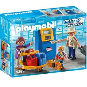 Конструктор Playmobil Городской Аэропорт: Семья на регистрации