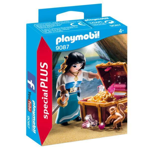 Конструктор Playmobil Экстра-набор: Пират с сокровищами