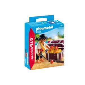 Конструктор Playmobil Экстра-набор: Пират с сундуком с сокровищами