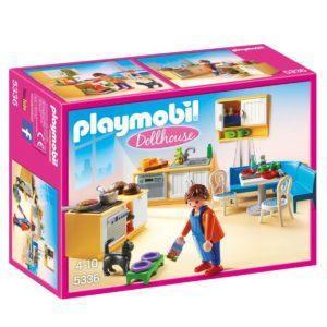 Конструктор Playmobil Кукольный дом: Встроенная кухня с зоной отдыха