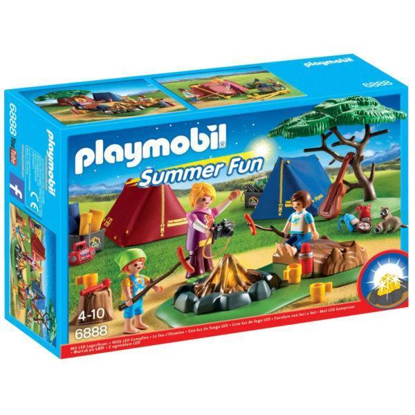 Конструктор Playmobil «Летний лагерь: Турбаза со светодиодным костром» (арт. 6888)