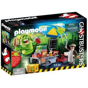 Конструктор Playmobil «Охотники за привидениями: Лизун и торговая тележка с хот-догами» (арт. 9222)