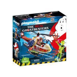 Конструктор Playmobil «Охотники за привидениями: Вэнкман с вертолётом» (арт. 9385)