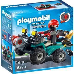 Конструктор Playmobil Полиция: Квадроцикл Грабителя с награбленным