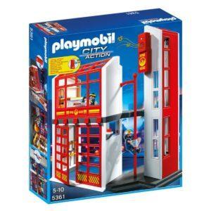 Конструктор Playmobil «Пожарная служба: Пожарная станция с сигнализацией» (арт. 5361)