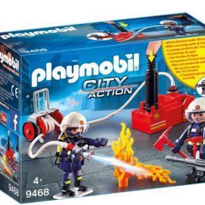 Конструктор Playmobil «Пожарная служба: Пожарные с водяным насосом» (арт. 9468)