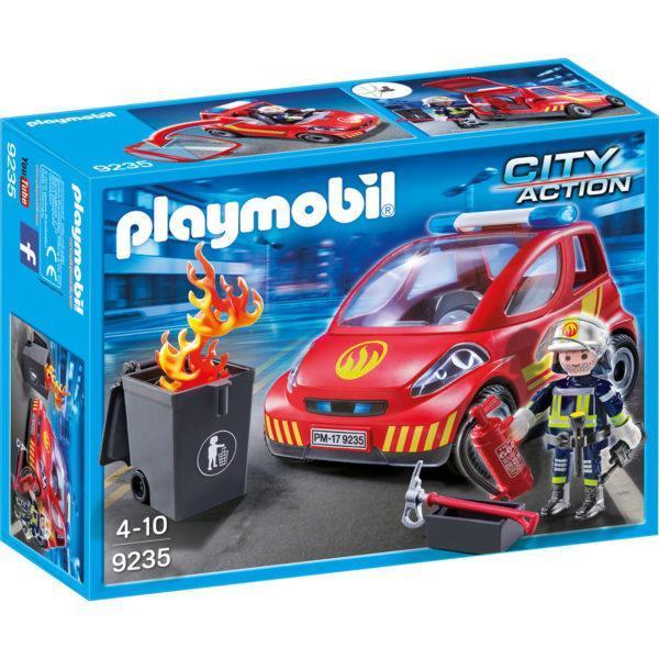 Конструктор Playmobil «Пожарник с машиной» (арт. 9235)