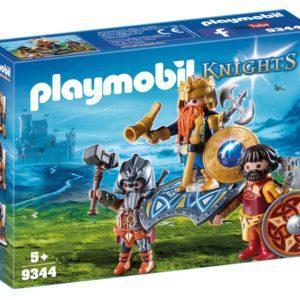 Конструктор Playmobil Рыцари: Король гномов с охраной