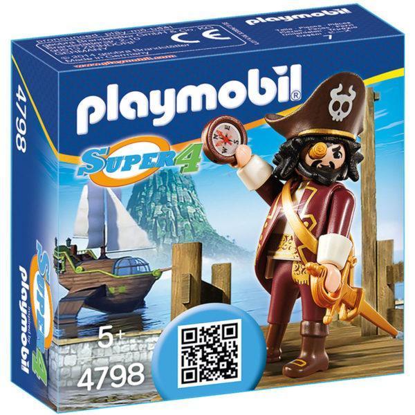 Конструктор Playmobil Супер4: Акулья борода
