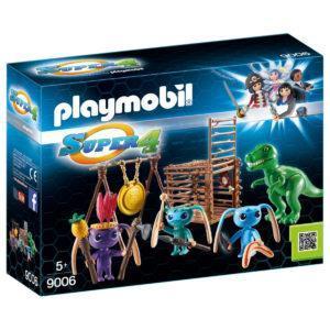 Конструктор Playmobil Супер4: Инопланетный воин с Т-рекс ловушкой