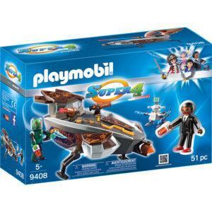 Конструктор Playmobil «Super4: Скайджет пришельца Сикрониана с Джином» (арт. 9408)