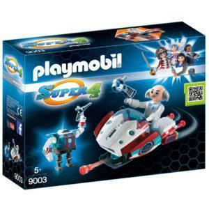 Конструктор Playmobil Супер4: Скайджет с Доктором Х и Робот