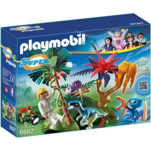 Конструктор Playmobil «Супер4: Затерянный остров с Алиен и Хищником» (арт. 6687)