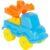Конструктор Полесье Юный путешественник – Автомобиль-кран (8 элементов) (в пакете) голубая