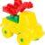 Конструктор Полесье Юный путешественник Автомобиль-кран, цвет: желтый (8 дет.)