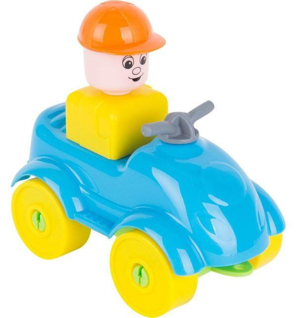 Конструктор Полесье Юный путешественник Квадроцикл, цвет: голубой (10 дет.)