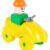 Конструктор Полесье Юный путешественник Квадроцикл, цвет: желтый (10 дет.)