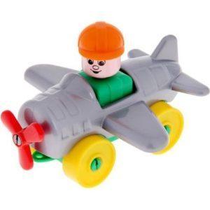 Конструктор Полесье Юный путешественник Самолет серый