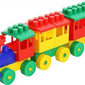 Конструктор Полесье «Паровоз с двумя вагонами» (арт. 2044)