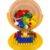 Конструктор Полесье Строитель 68 элементов в ведре Макси с крышкой оранжевое ведро и желтая крышка