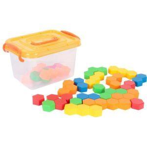 Конструктор «Разноцветные многоугольники в боксе» (24 элемента)