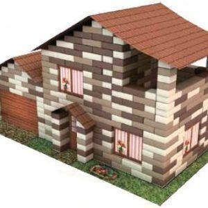 Конструктор развивающий из кирпичиков «Дом с гаражом» (490 деталей)