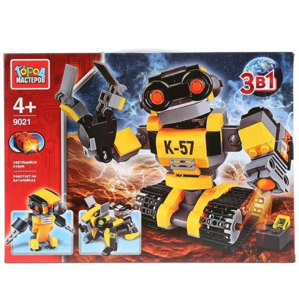 Конструктор – Робот 3 в 1, со светом, 303 детали
