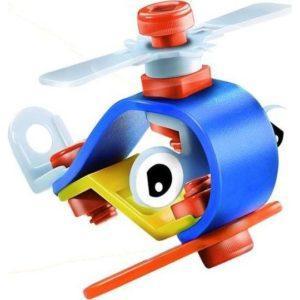 Конструктор-скрутка гибкий «Вертолёт» (14 деталей, Fun Red)