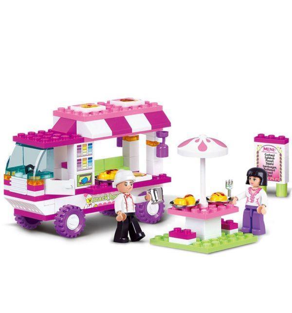 Конструктор Sluban «Розовая мечта: Мобильный ресторанчик» (102 детали, арт. M38-B0155)
