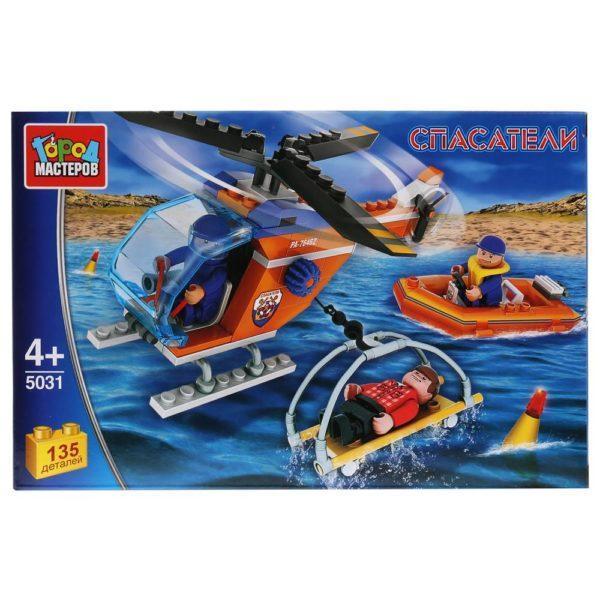 Конструктор - Спасательный вертолет, с фигурками, 135 деталей