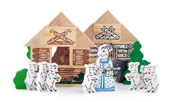 Конструктор - Волк и семеро козлят из серии Сказки