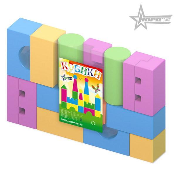 Конструктор выдувной - Кубики, 17 деталей